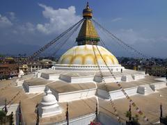 Boudhanath Stupa - Kathmandu - Nepal - stock photo