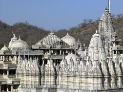 Adinath Jian Temple in Ranakpur - India - stock photo