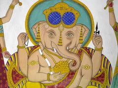 Indian Artwork - Hindu God Ganesha - Udaipur Stock Photos