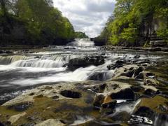 Aysgarth Falls - Yorkshire Dales in northeast England - stock photo