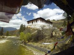 Paro Dzong Buddhist monastery - Kingdom of Bhutan - stock photo
