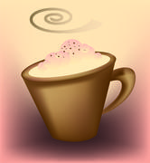 Cup of cappuccino - stock illustration