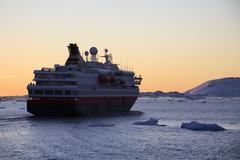 Tourist Ship - Antarctica - stock photo