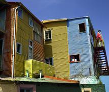 La Boca district of Buenos Aires - Argentina - stock photo