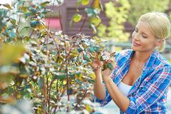 Hobby of gardening - stock photo