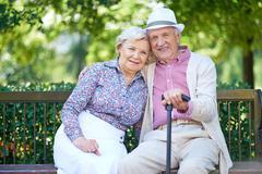 Restful seniors Stock Photos