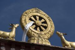 Buddhist Mandela - Drepung Monastery - Lhasa - Tibet Stock Photos