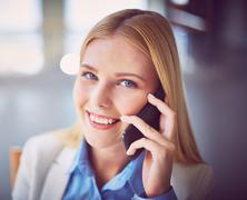 Agent calling Stock Photos