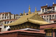 Ganden Monastary - Tibet - stock photo