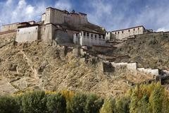 Gyantse Fort - Gyantse - Tibet Stock Photos