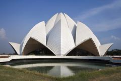 Delhi - Bahai House of Worship - India Stock Photos