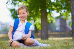 Elementary school learner - stock photo