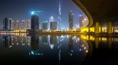 Dubai 2015 New Year Led Show timelapse Stock Footage