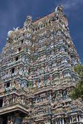 Hindu Temple - Madurai - India - stock photo