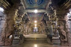 Minakshi temple - Madurai - India - stock photo