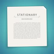 Stock Illustration of Blue Stationary Background with Copy Space
