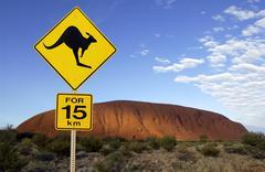 Ayers Rock (Uluru) - Australia Stock Photos