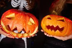 Halloween grins Stock Photos