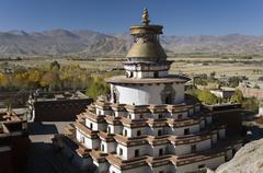 Kumbum Stupa at Gyantse - Tibet - stock photo