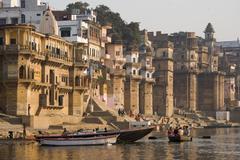Hindu Ghats - Varanasi - India Stock Photos
