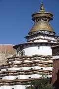 Kumbum Stupa - Gyantse - Tibet Stock Photos