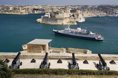 Grand Harbor - Fort St Angelo - Valletta -Malta Stock Photos