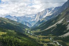 Val Ferret, Italy - stock photo