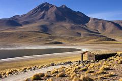 Laguna Miscanti in the High Andes Mountains in the Atacama Desert - Chile Stock Photos
