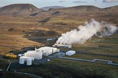 Geo thermal Power Station in Iceland Stock Photos