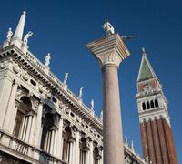 San Marco and Campanile in Venice - Italy Stock Photos
