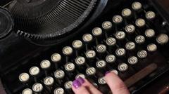 Old Typewriter 3 - stock footage