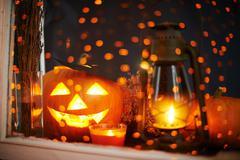 Jack-o-lantern - stock photo