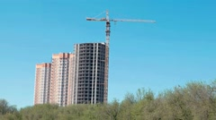 Development of building in the forest area in Russia Stock Footage