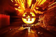 Halloween light Stock Photos