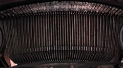 Old Typewriter 1 Stock Footage