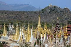 Shwe Inn Thein Temple - Ithein - Inle Lake - Myanmar - stock photo