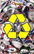 Recycling - Aluminium Drinks Cans - stock photo