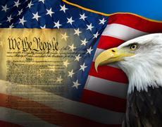 Patriotic Symbols - United States of America - stock photo