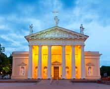 Vilnius. Lithuania. Cathedral Square. Stock Photos