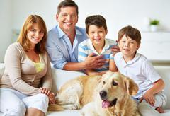 Restful family Stock Photos