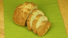 Rotation sliced bread Stock Footage