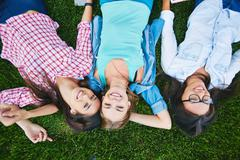 Carefree girls Stock Photos