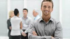 Successful Young Businessman - stock footage