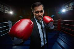 Business champion - stock photo