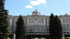 Palacio Real, Royal Palace, Time Lapse Fast, Madrid, Spain Stock Footage