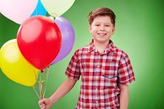 Birthday balloons Stock Photos