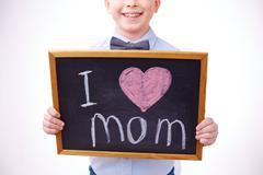 I love mother - stock photo