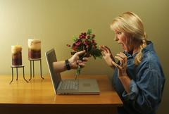 The Glory of the Internet Series - Internet Dating - stock photo