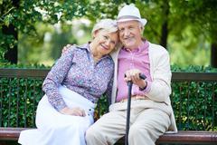 Restful seniors - stock photo