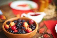 Juicy fruits Stock Photos